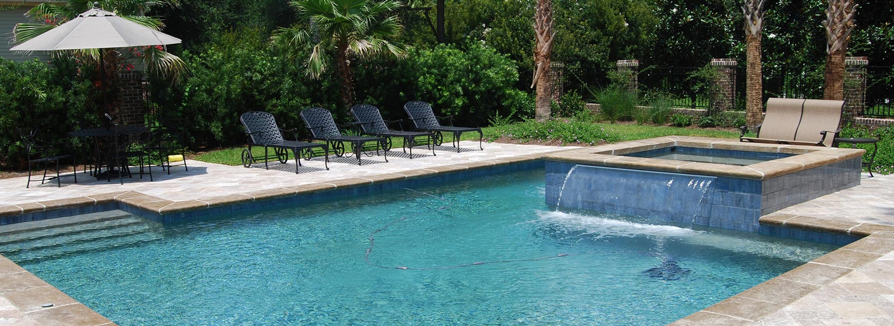 Water Features Aqua Blue Pools South Carolina Custom