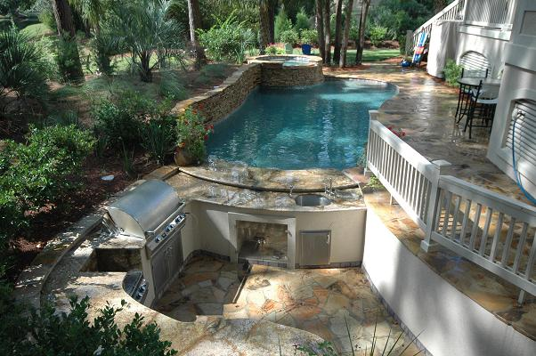 Outdoor Living Aqua Blue Pools Sc Pool Builder