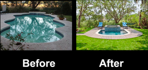 Before and After Pool Renovation Pictures
