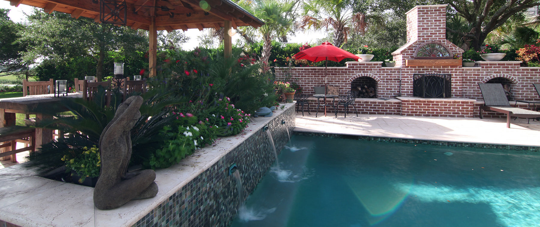 outdoor living backyard james island sc aqua blue pools