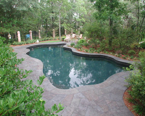 Swimming Pool Design Blends With Nature In Dunes West Of Mount Pleasant Aqua Blue Pools