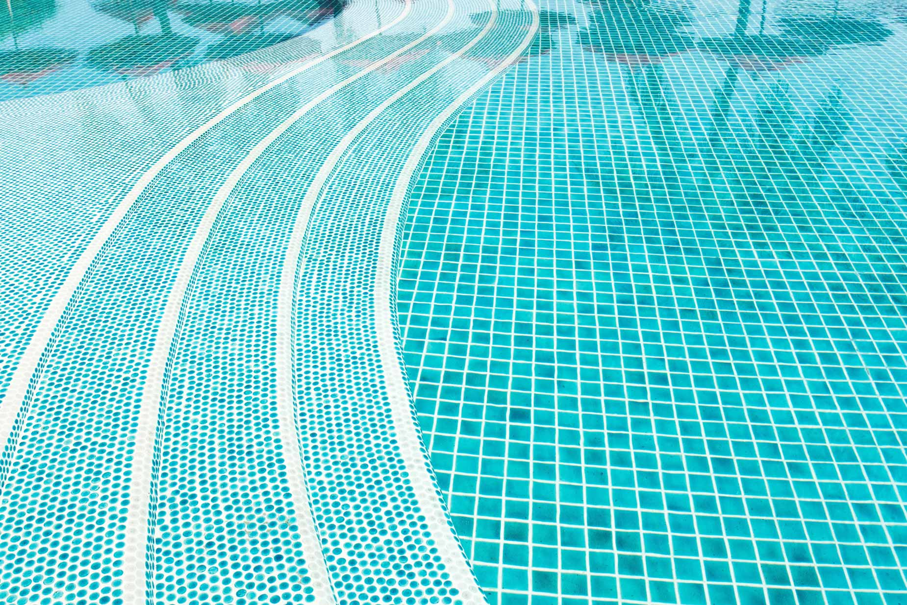 Swimming pool and clear water rippled