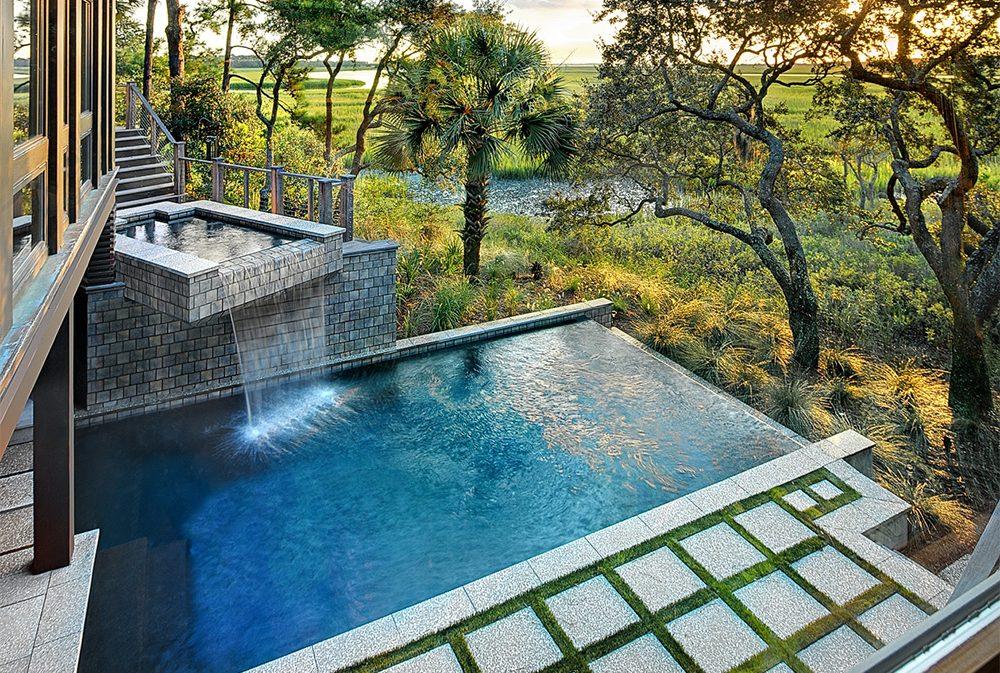 Pool Spa Combo Kiawah Island SC