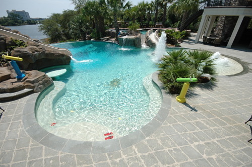 Beach Entry Pools | Aqua Blue Pools