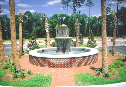 Fountain in a public area of south carolina