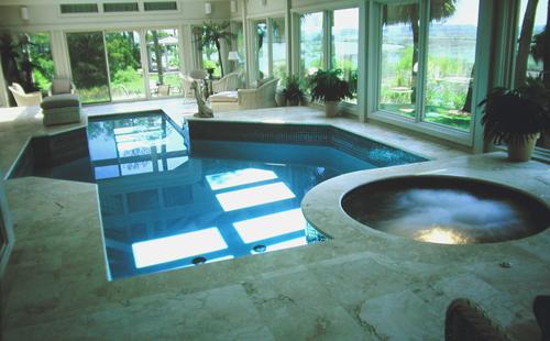 Indoor Outdoor Pool Spa Combo
