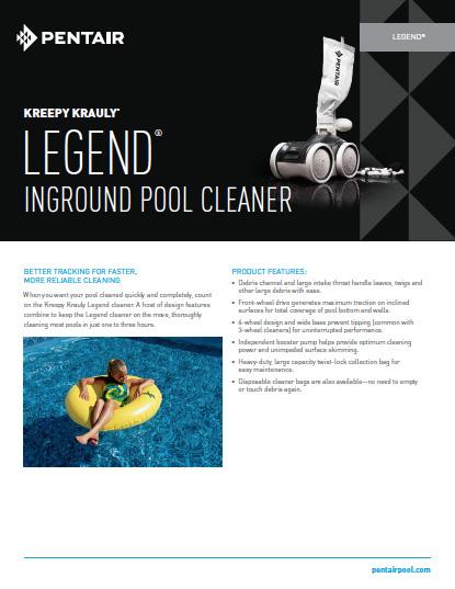 Pentair Legend Inground Pool Cleaner