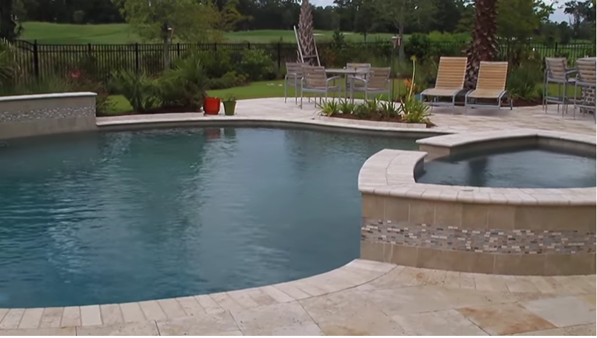 Pool Spa Waterfall Combo