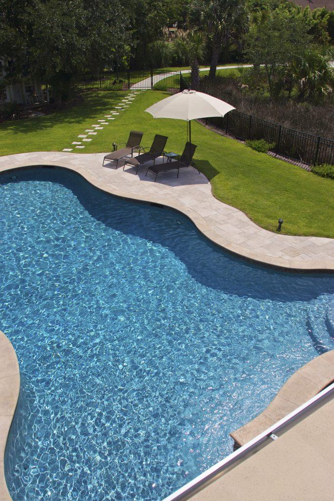 Free Form Pool Spa Combo In Dunes West Sc Aqua Blue Pools
