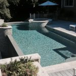 Curved Infinity Pool Spa Combo with Planters