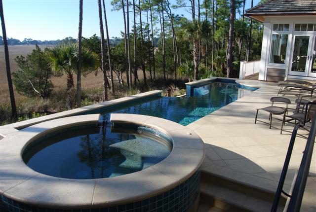 Residential Elevated Swimming Pool On Kiawah Island