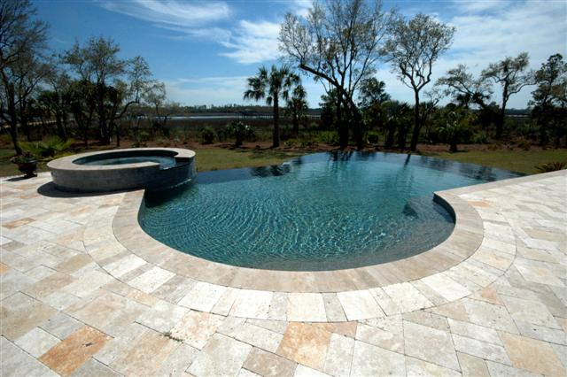 Residential In Ground Swimming Pool In Beresford Hall Mount Pleasant Aqua Blue Pools