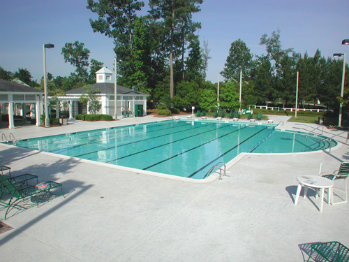 Community Swimming Pool at Coosaw Creek Country Club in Summerville, SC