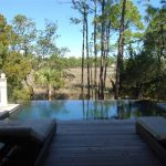 Custom vanishing edge pool on Kiawah Island