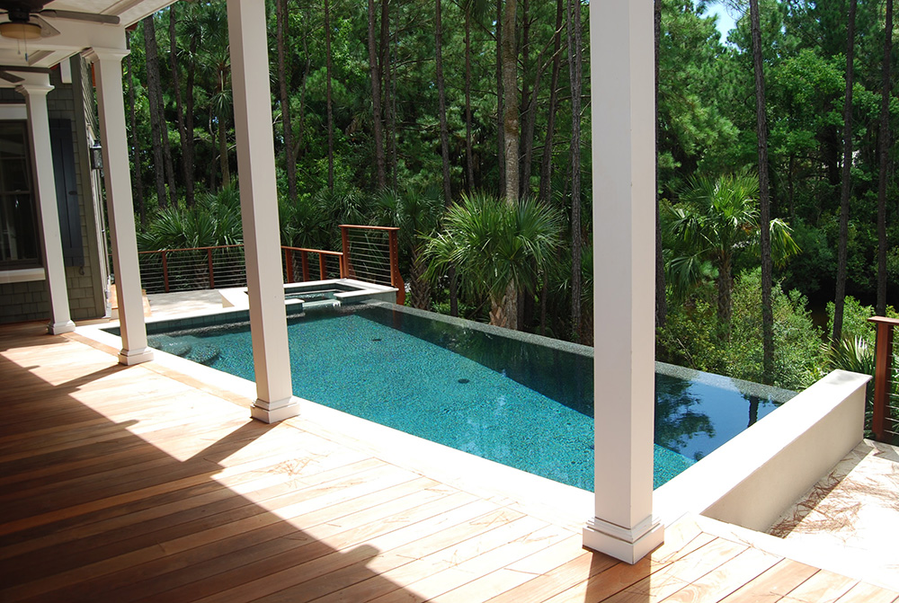Vanishing Edge Pool Aqua Blue Pools Swimming Pools