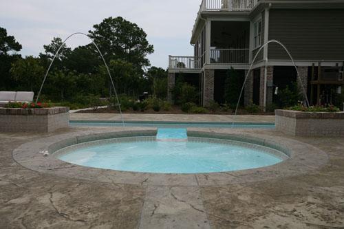 San Juan Fiberglass pool luxor shallow