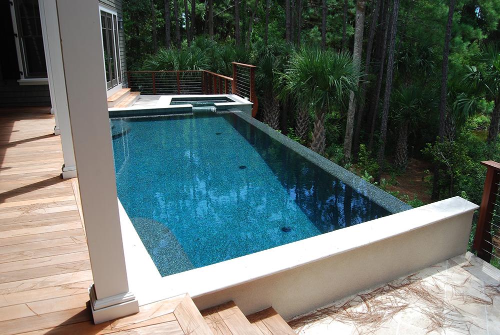 Vanishing Edge Pool Aqua Blue Pools