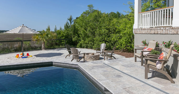 Outdoor Living Beach, FIre Pit and Pool