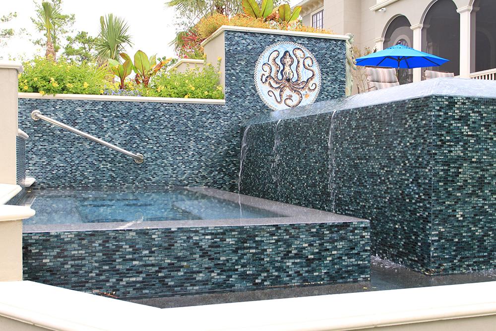 Vanishing Edge Spa Design Daniel Island Sc Aqua Blue Pools