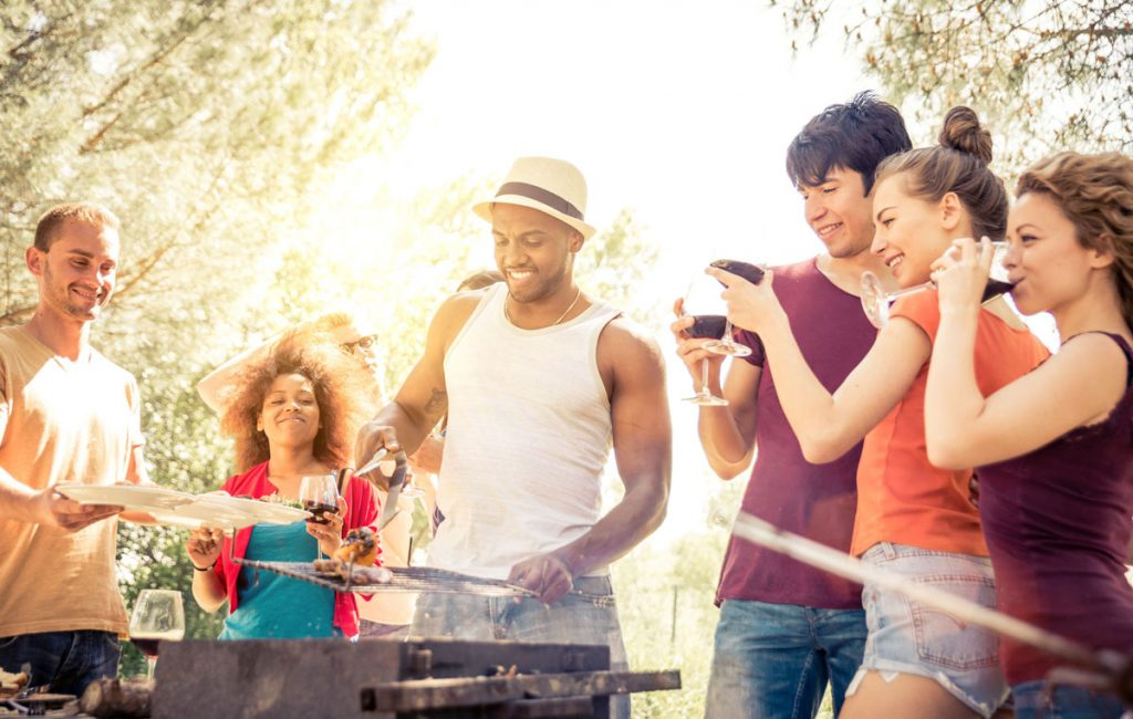 Friends at an outdoor barbecue
