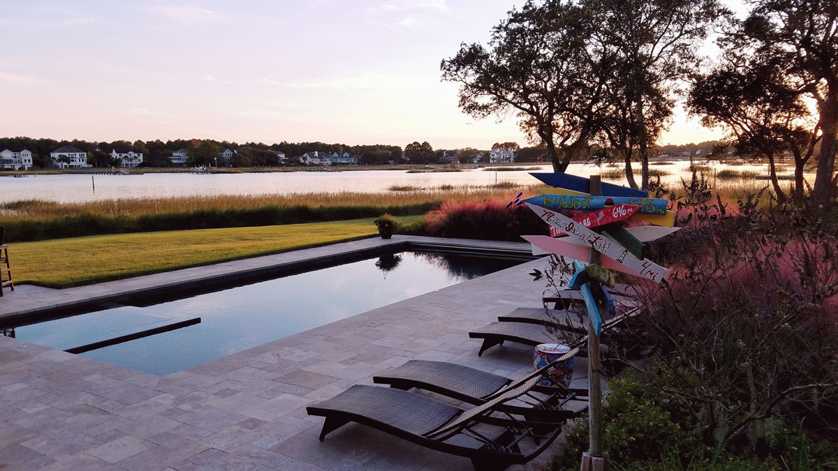 Lowcountry pool in the fall