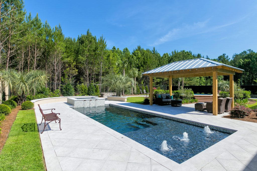 Luxury Pool with Spa, Water Bubblers and Landscaping