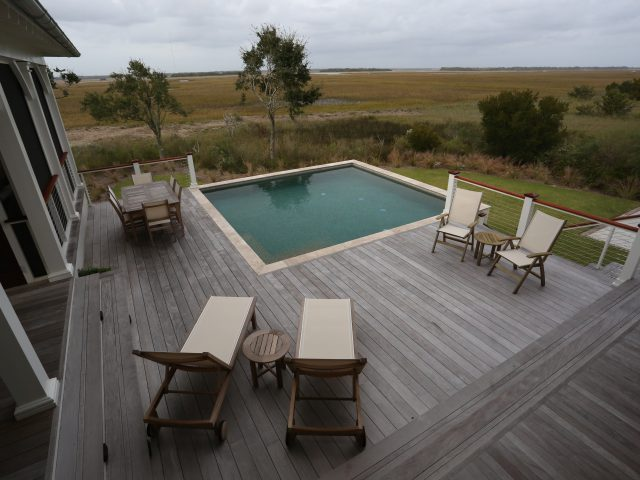 Backyard Elevated Pool with Decking