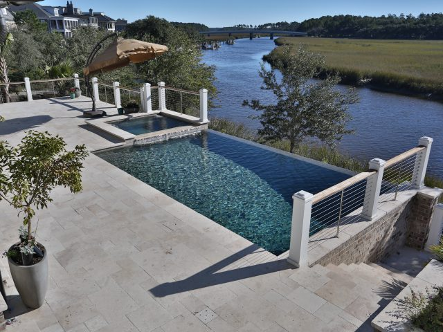 Custom Infinity Pool overlooking a River