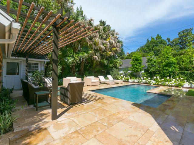 Pool Renovation After Shot - Luxury Geometric Backyard Pool