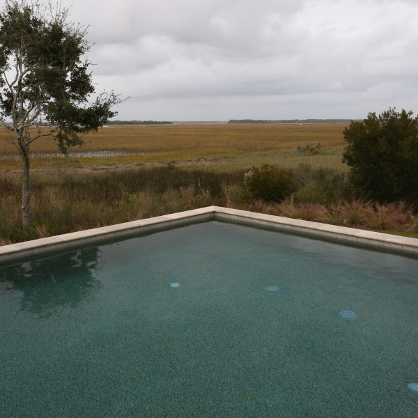 Elevated Pool overlooking grass field