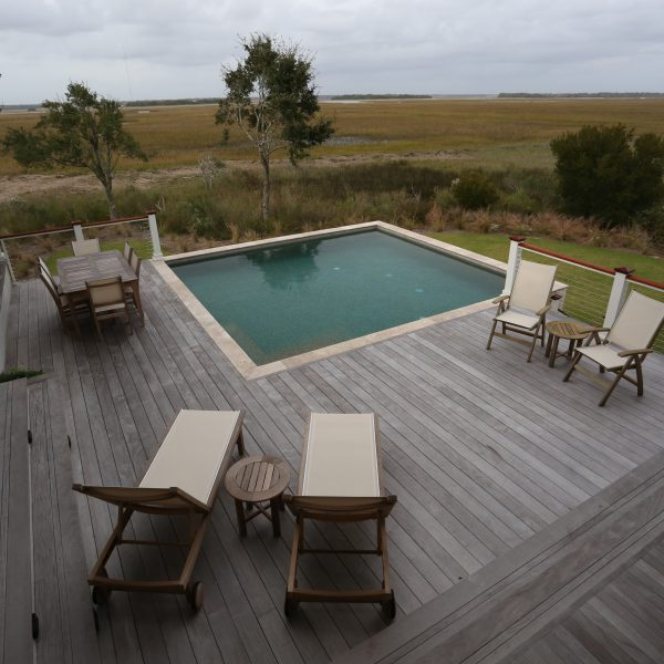 Elevated Square Pool with Decking