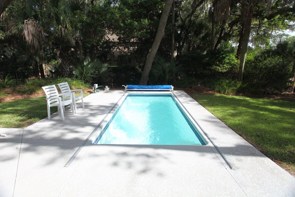 Inground Backyard Pool with Cover Front Facing View