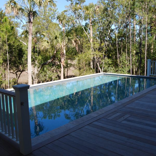 Elevated Pool overlooking Trees Left View