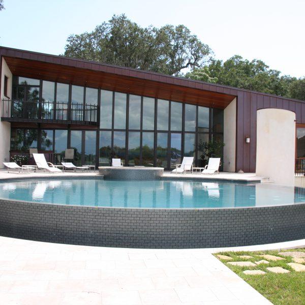 Custom Circular Infinity Pool
