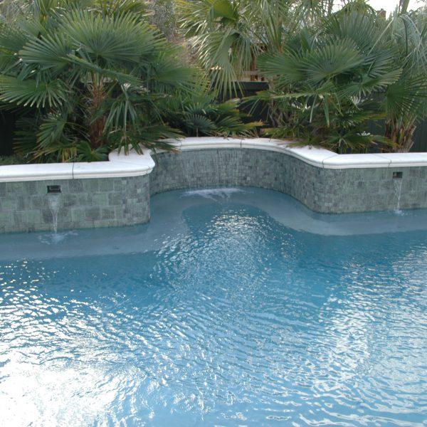 Waterfalls & Pool Fountains South Carolina | Aqua Blue Pools