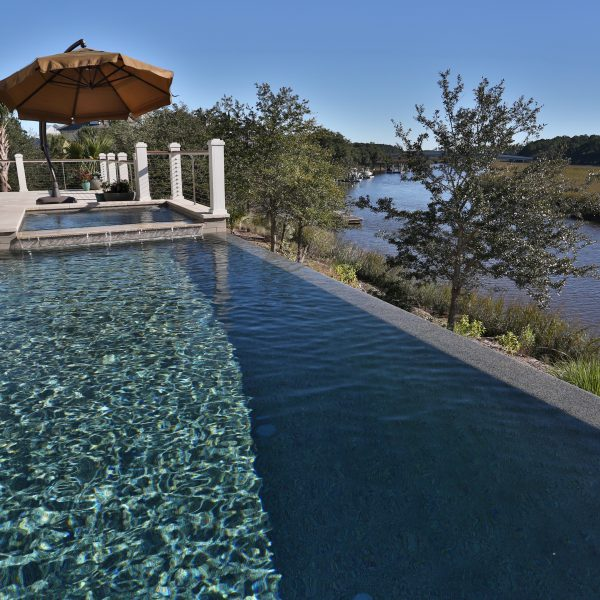 Infinity Pool with Custom Spa in-pool View