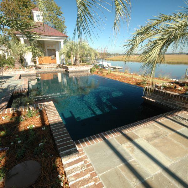 Large Custom Backyard Geometric Pool