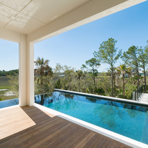 Custom L shaped Infinity Pool