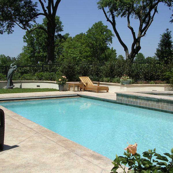 Geometric Swimming Pool with Custom Spa