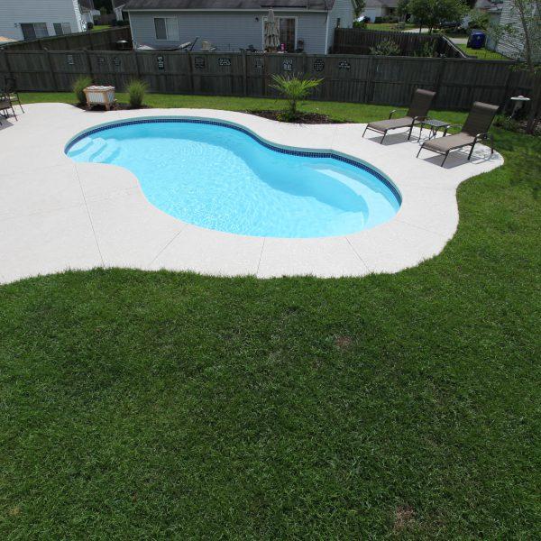 Freeform Fiberglass Backyard Pool Top View