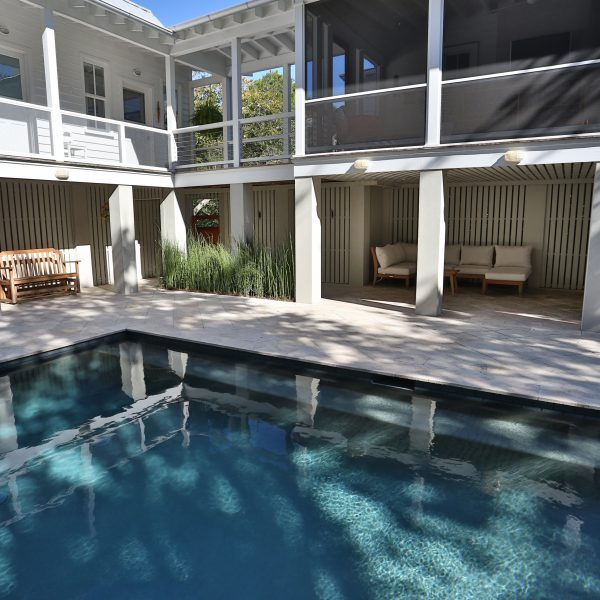 Geometric Pool Backyard Center Left View