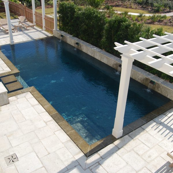 Custom Inground Pool with Water Features