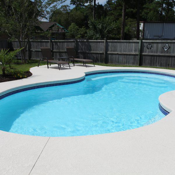 Freeform Fiberglass Backyard Pool Close View