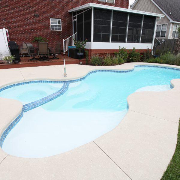Fiberglass Freeform Pool Side View