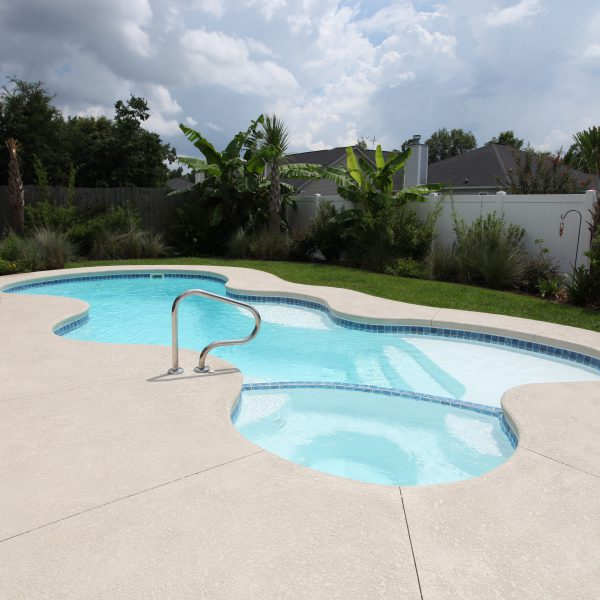 Fiberglass Freeform Pool Front View