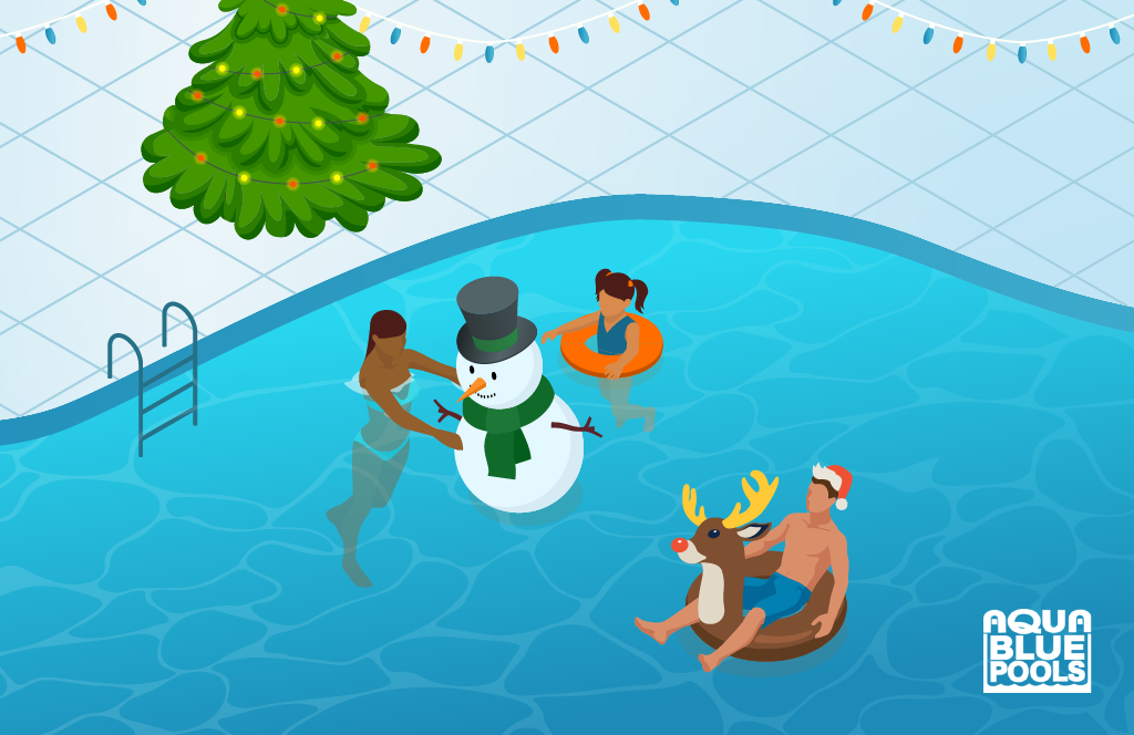 Decorate your Pool for Christmas