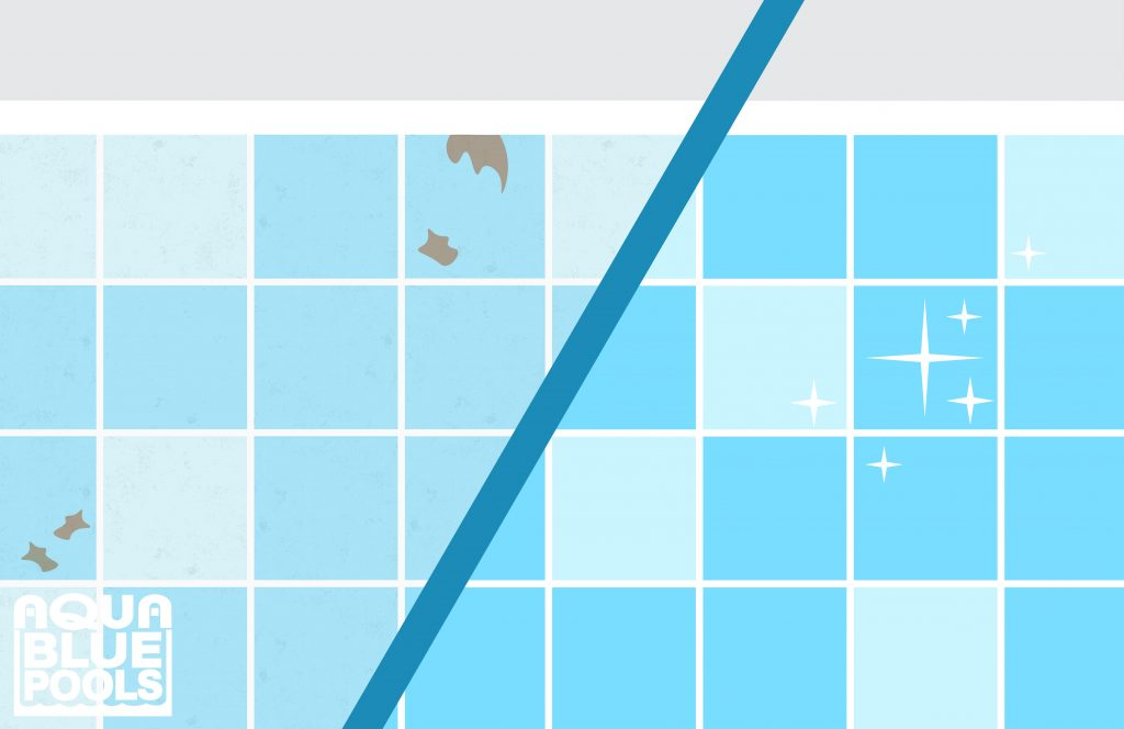 What is the best way to clean pool tiles?